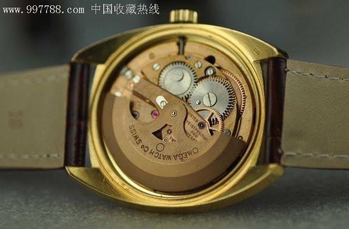 好品古董欧米茄鲍鱼星座18k黄金表壳实金金子重达37克图片