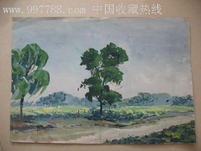 bk-167 品种: 水粉/水彩原画-水粉/水彩原画 属性: 水粉原画,,山水