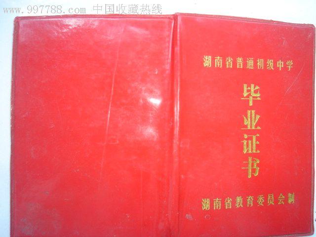 湖南省普通初级中学--毕业证标志毕业小高中图片