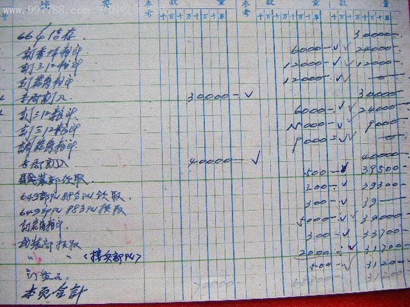 全国通用粮票记账单图片
