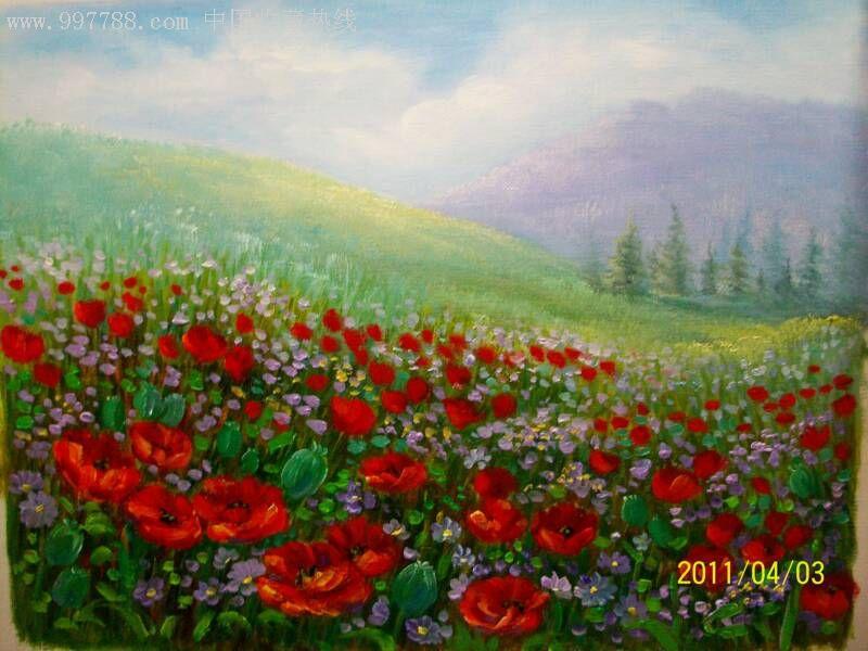 油画手绘油画风景油画装饰油画花卉油画刀笔无框油画