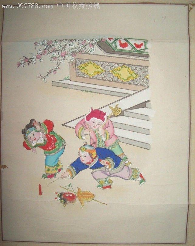 手绘儿童年画