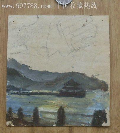 小油画:青岛栈桥