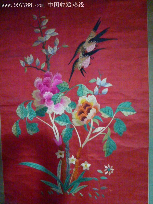 老刺绣牡丹花