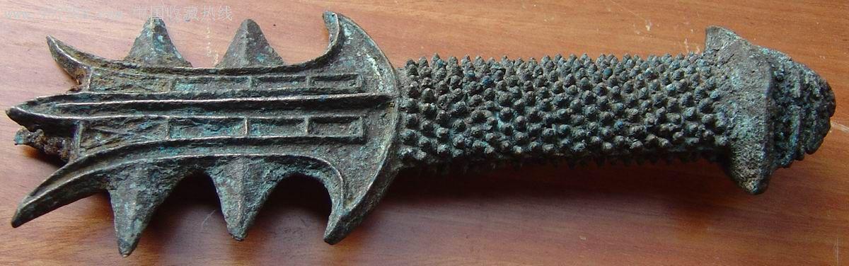 精美的巴蜀春秋战国时期青铜剑柄-铜兵器--se9917172