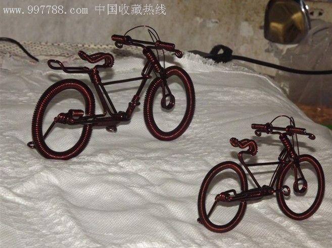 纯手工制作自行车工艺品