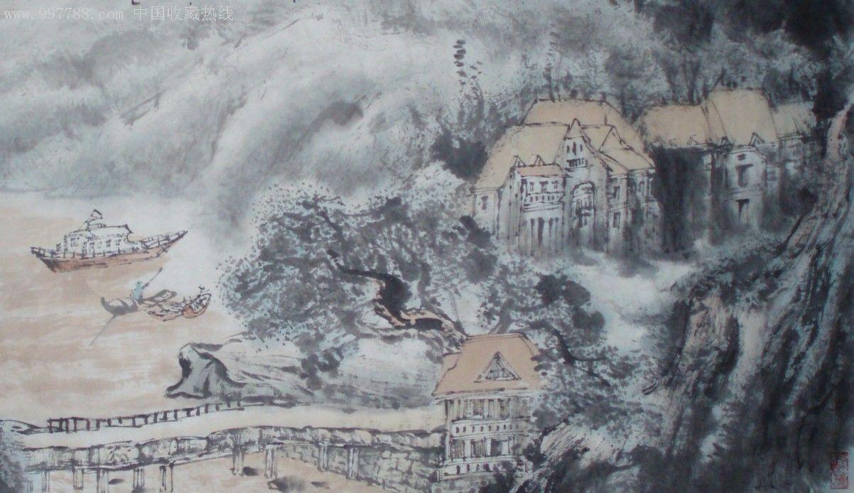 城市风景山水画《黄河颂》_第2张_7788收藏__中国收藏热线