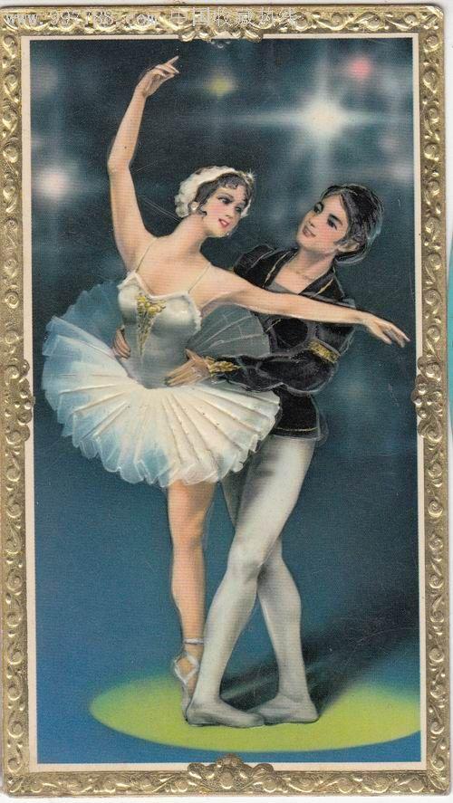 张舞姓_【1980-年历卡】双人芭蕾舞_第1张_7788收藏__收藏热线
