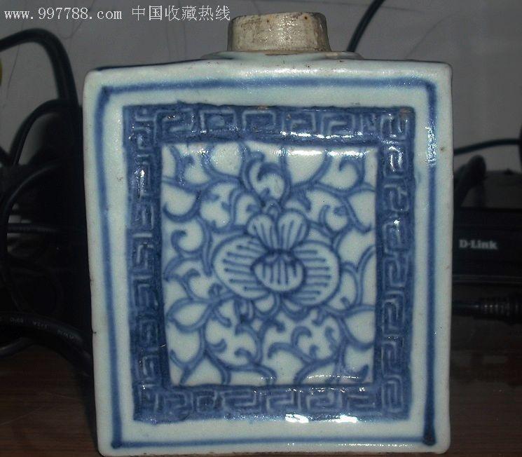 清代青花茶叶罐图片