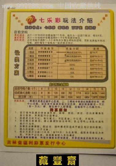 【吉林福彩】图-048七乐彩玩法介绍(背会徽,开奖查询)