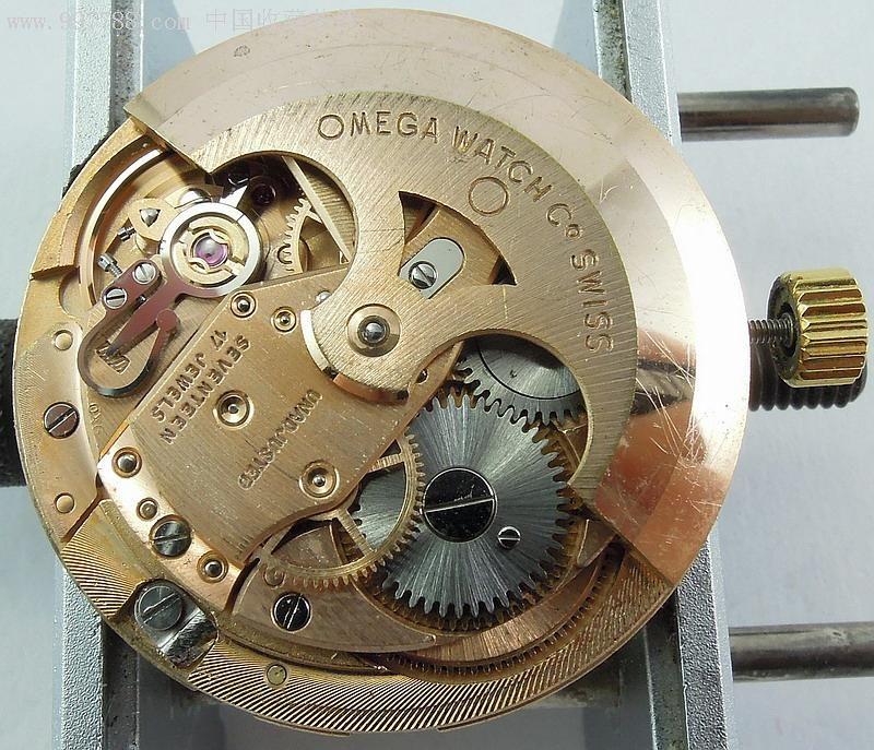好品古董鲍鱼款60年代瑞士欧米茄14k实金(金重17.2克)图片